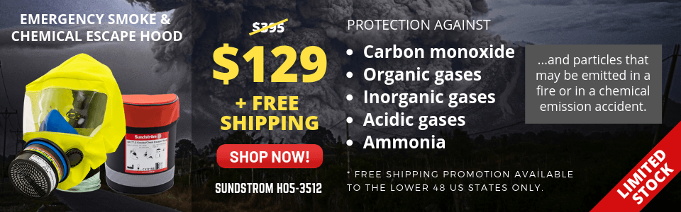 Always be prepared for an emergency.  At Work, Job Site, Car,  or home,  Never know when Emergency Smoke and Chemical escape hood will be used.  Buy your today and  Save 50% + FREE SHIPPING.  Limited Stock.