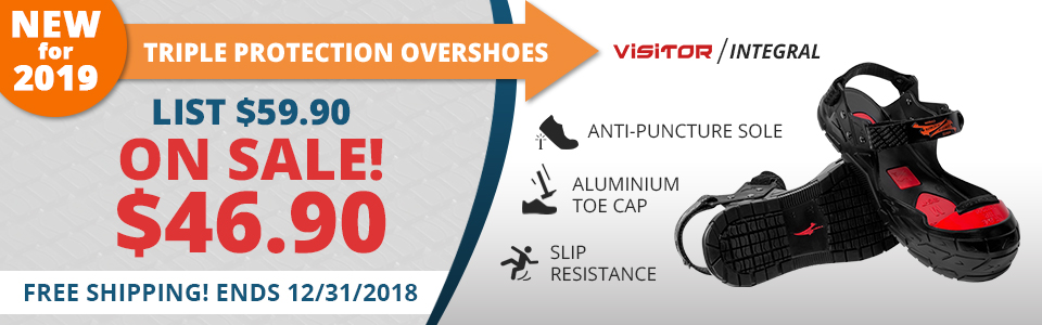 New 2019 Safety Toe Cap with Triple Premium protection.  Buy yours Today and Save!