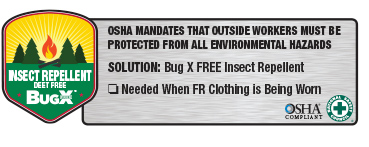 BugX DEET Free Natural Insect Repellent OSHA Compliant logo