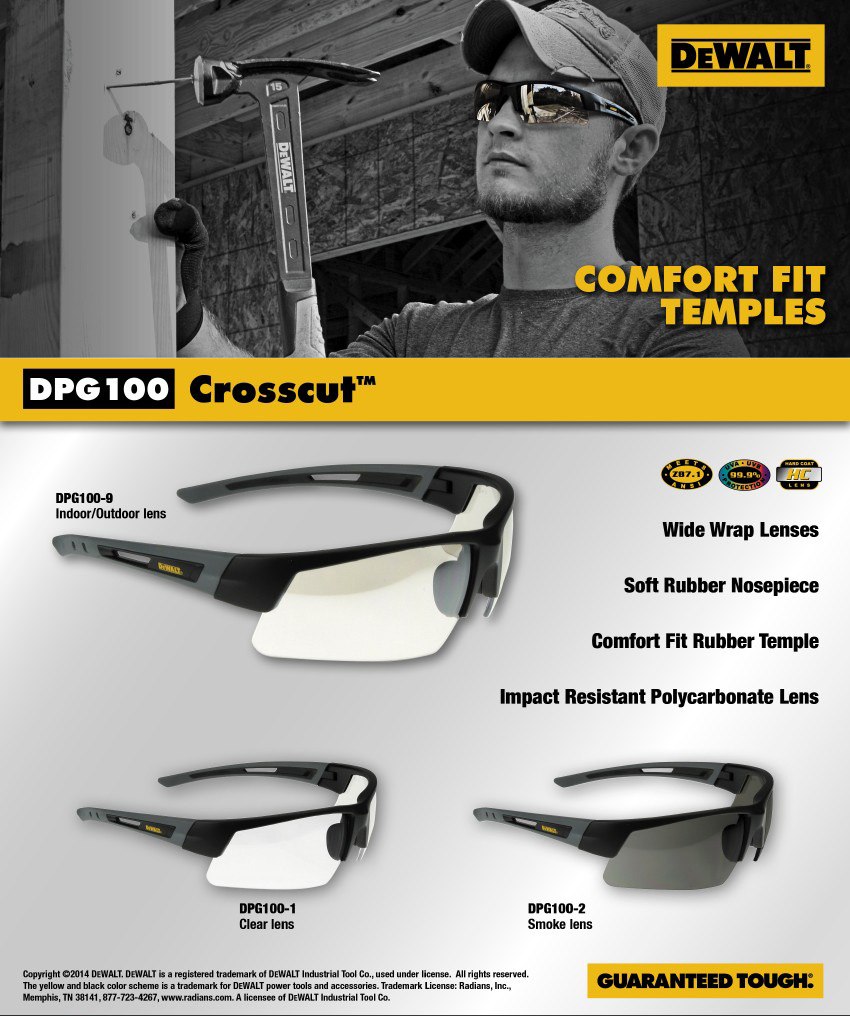 DeWalt DPG100 Crosscut Safety Glass. Shop Now!
