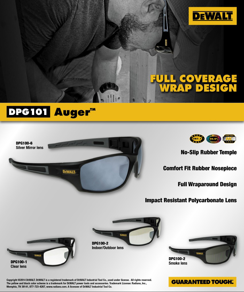 DeWalt DPG101 Auger Safety Glass. Shop Now!
