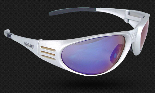 Wraparound Frame • Rubber Temples and Nosepiece • Meets ANSI Z87.1+ • 99.9% UV Protection
