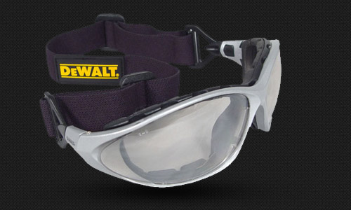 Foam Lined Glass • Elastic Headstrap • Optional Temples • Meets ANZI Z87.1+ • 99.9% UV Protection
