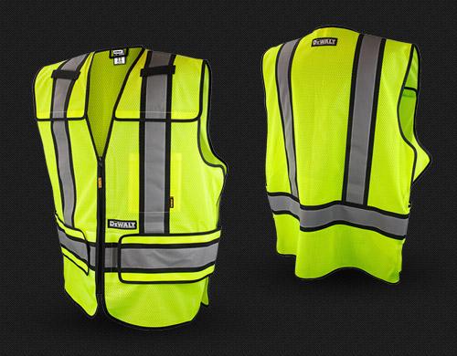 Dewalt DSV421 Adjustable Breakaway Class 2 Mesh Vest