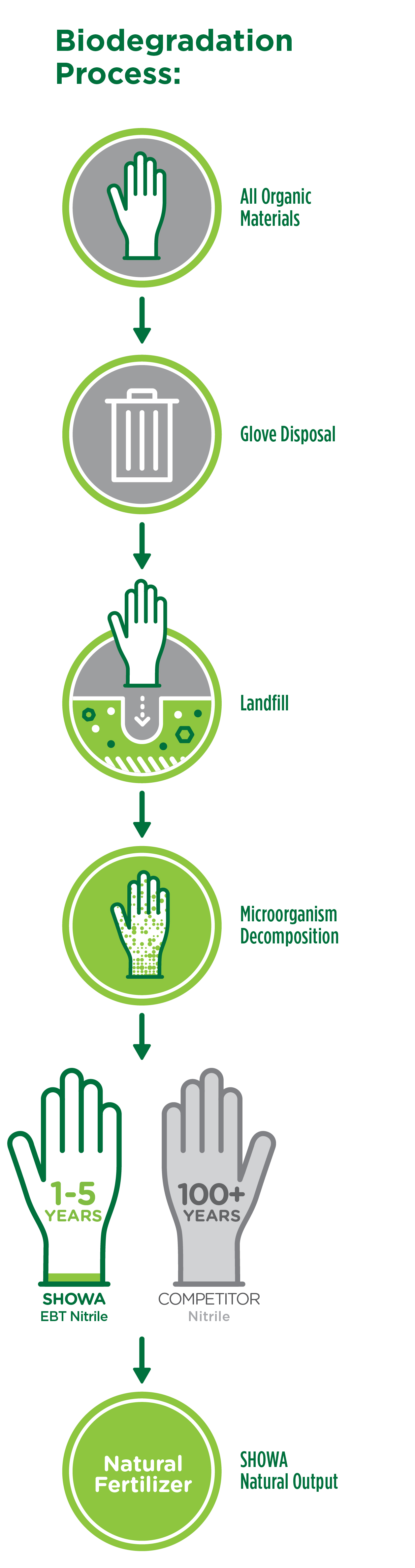 Infographic on How the Biodegradation Process works for the ECO Best Technology.