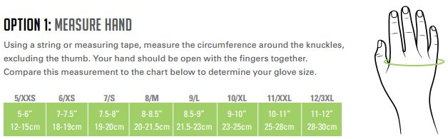 HexArmor Glove Sizing Chart
