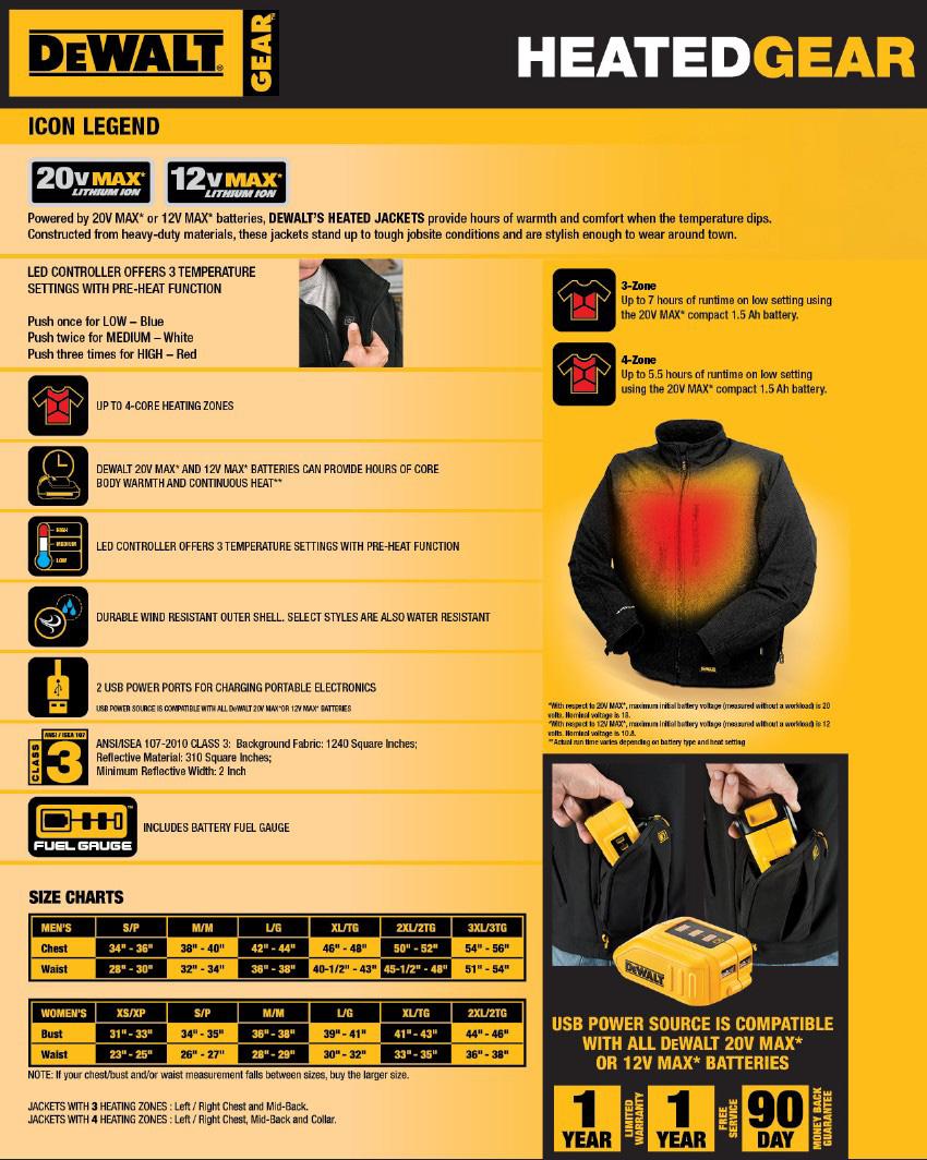 Dewalt DCHJ066 Women's Hooded Heated Jacket. Shop Now!