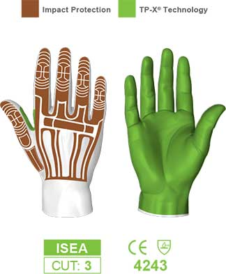 HexArmor 2025 Rig Lizard Impact Gloves Protection Zones