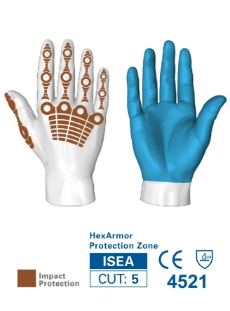 HexArmor 4030 Chrome Oasis Hi-Vis HexVent Heavy Duty Gloves Protection Zones