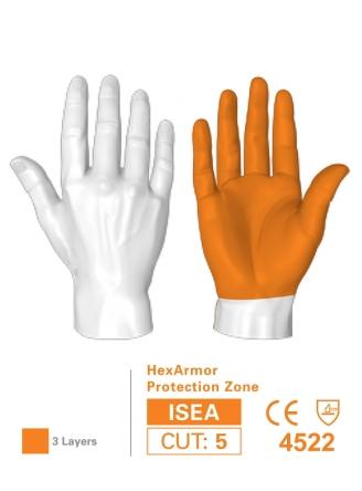 HexArmor 4041 NSR SuperFabric Needlestick-Resistant Gloves Protection Zones