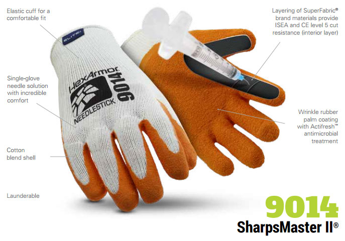 HexArmor 9014 SharpsMaster II Needle Puncture Resistant Gloves Product Specs