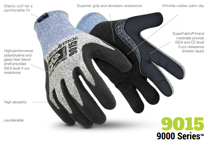 HexArmor 9015 9000 Series SuperFabric L5 Cut Resistance Gloves Product Specs
