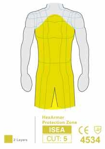 HexArmor AP382 Protective Apron 24 In. x 38 In. Heavy Duty Double Layer Protection Zones