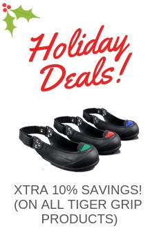 SAVE ADDITIONAL 10% ON ALL TIGER GRIP SAFETY TOE CAPS, SLIP RESISTANT, PUNCTURE RESISTANT OVERSHOE PRODUCTS.