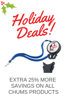 SAVE EXTRA 25% ON ALL CHUMS PRODUCTS!