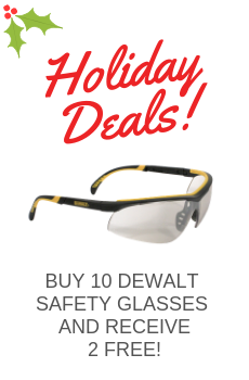 BUY 10 DEWALT SAFETY GLASSES AND RECEIVE 1 FREE AT EQUAL OR LESS VALUE!