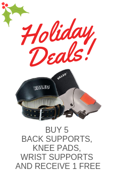 BUY ANY 5 BACK SUPPORTS, KNEEPADS, WRIST SUPPORT, AND RECEIVE 1 FREE AT EQUAL OR LESS VALUE!