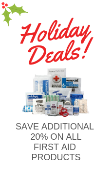 SAVE AN ADDITIONAL 20% OFF ON ALL FIRST AID PRODUCTS, KITS, AND STATIONS, BUY NOW!