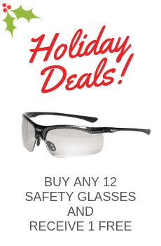 FREE SAFETY GLASSES WITH ANY 12 EACH SAFETY GLASSES PURCHASE!  Shop Now!