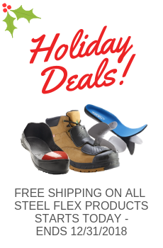 Free Shipping on All Steel Flex METATARSAL PROTECTOR, puncture resistant insole and safety toe overshoes!