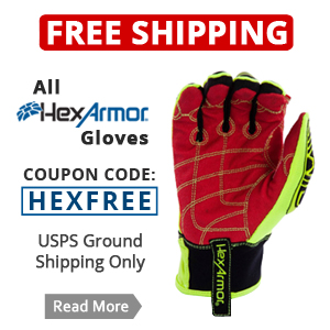 FREE on All Hexarmor Gloves.  Use Coupon during checkout.