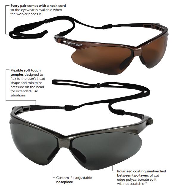 Jackson Safety 28635 V30 Nemesis Polarized Safety Eyewear