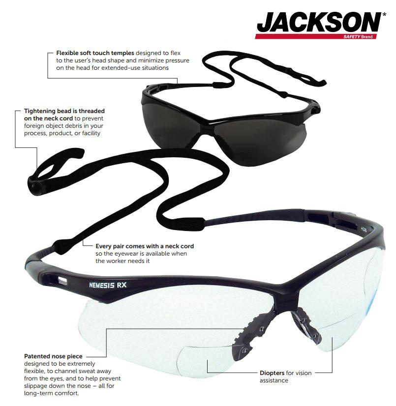 46d2decb105e Jackson Safety V60 NEMESIS RX Safety Eyewear Diagram