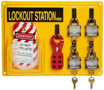 get an organized way of keeping your machines safe with our lock out tag out kits - Lock Out Tag Out Kits
