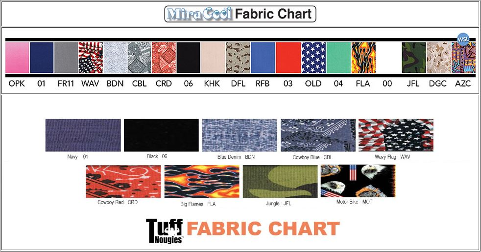 MiraCool Fabric Color Chart