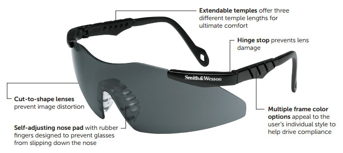 Smith & Wesson 19799 Magnum 3G Safety Eyewear Diagram