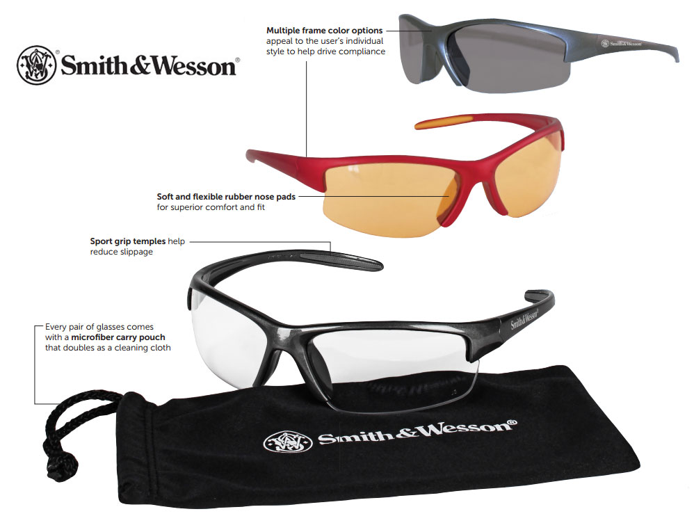 Smith & Wesson Equalizer Safety Glasses Diagram