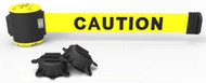 "Banner Stakes MH7001 7' Magnetic Wall Mount - Yellow ""Caution"" Banner"