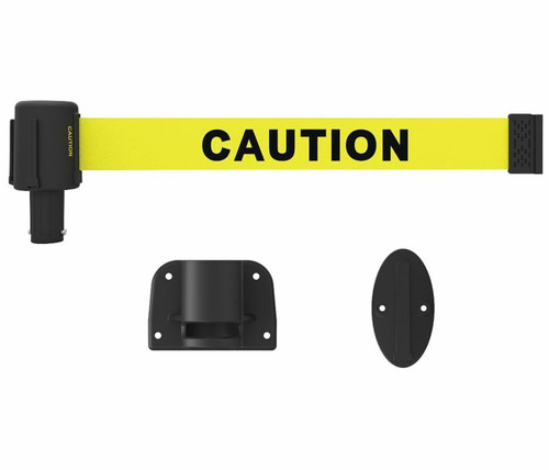 "Banner Stakes PL4106 PLUS Wall Mount System, Yellow ""Caution"". Shop now!"