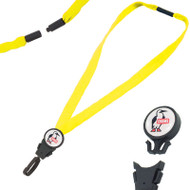 "Chums 3/4"" Detachable EV Acrylic Breakaway Lanyard - EV Neon Yellow + RHOOK15. Shop Now!"