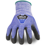 HexArmor 2076 Helix High Cut Blue Knit Glove with PU dip. Shop Now!