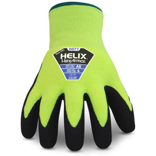 HexArmor 2077 Helix High Cut Hi-Vis Knit Glove Winter Version. Shop Now!