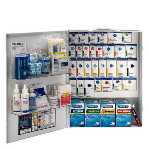 First Aid Only 90830 XL Metal Smart Compliance Food Service First Aid Cabinet with Meds . Shop Now!