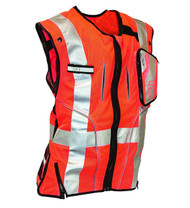 Falltech 5055SM Class 2 Safety Vest, Orange S/M