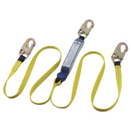 Sellstrom V8104406 E6 Shock Absorbing Lanyard SP Twin Leg Snap Hooks 6' (1.8 m). Shop Now!