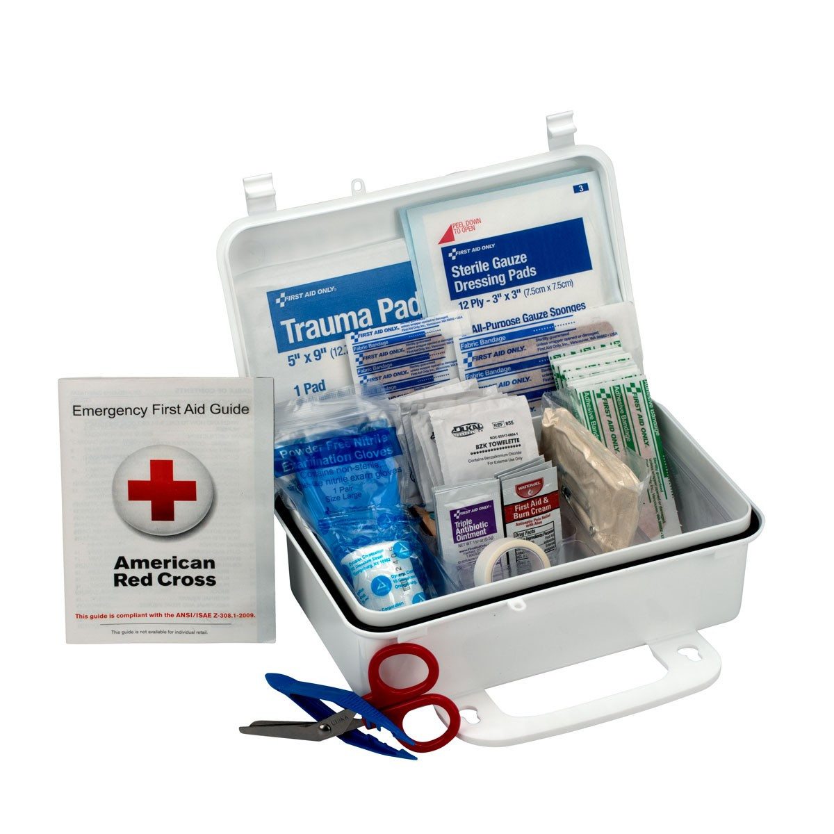 First Aid Only 6060 10 Person OSHA Bulk First Aid Kit, Plastic