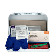 First Aid Only 6021-S 21 Piece Blood Borne Pathogen Spill Clean-Up Kit In Weatherproof Steel Case. Shop Now!