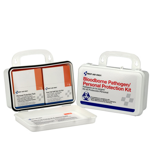 First Aid Only 3060 Blood Borne Pathogen (BBP) Unitized Spill Clean Up Kit, Plastic Case. Shop Now!