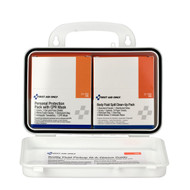 First Aid Only 3065 Bloodborne Pathogen (BBP) Unitized Spill Clean Up Kit With CPR, Plastic Case