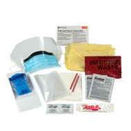 First Aid Only 214-P BBP Spill Clean Up Kit, Bodily Fluid Clean Up Pack, 16 Pc - Disposable Tray. Shop Now!