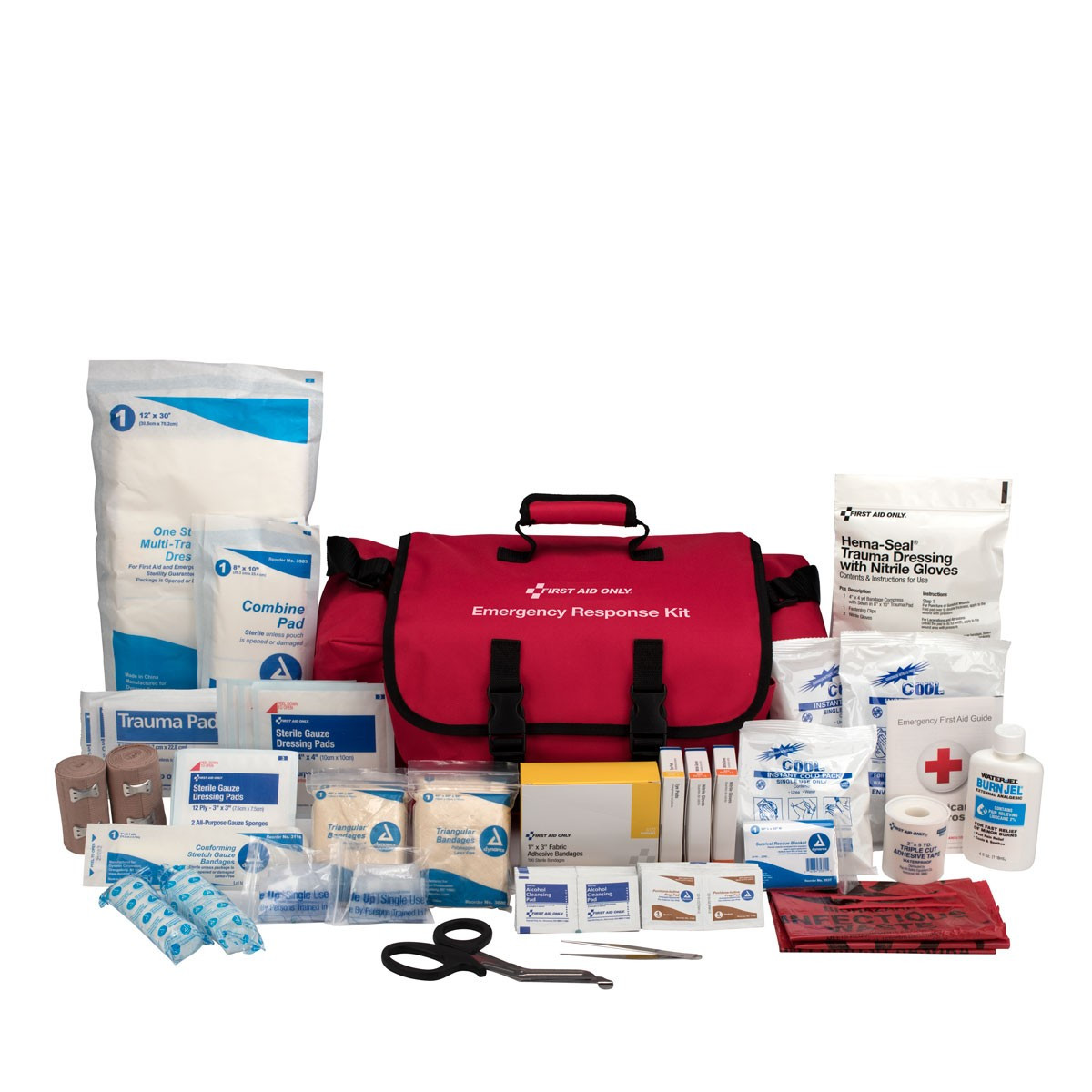First Aid Only 3500 First Responder Kit, 151 Piece, Fabric Case