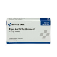 First Aid Only FA-12-001 Triple Antibiotic Ointment, 12 Per Box. Shop Now!