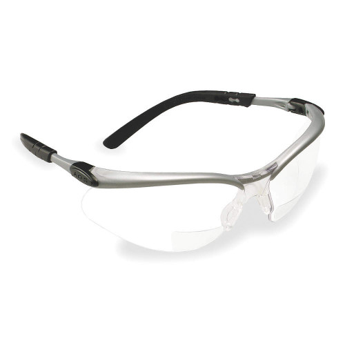 3M BX Reader Silver Frame with Clear Lens