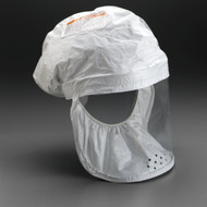 3M White Respirator Head Cover- 3 Each