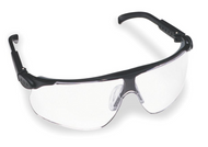 13250-00000- Black Adjustable Temple Clear Lens