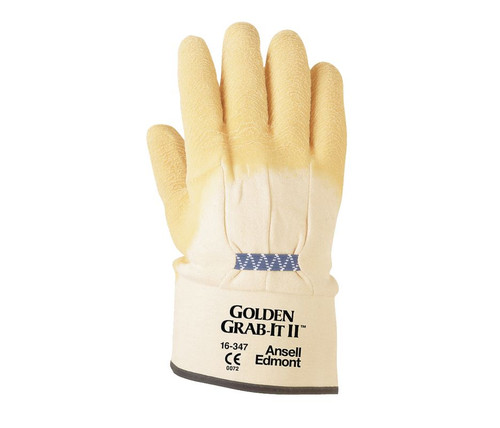 Ansell 16-347 Grab-It Multi-Purpose Palm Coated Heavy-Duty Glove with Safety Cuff. Shop Now!